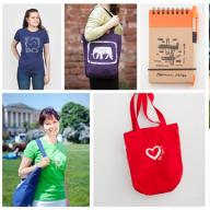 Сумки, футболки, блокноты и ручки из экологичных материалов