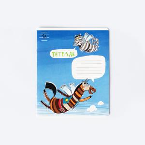 Тетрадь Кот Мустафа и Лошадь Джейн, 12 листов, полоска