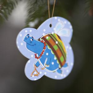 елочная игрушка из картона Черепаха Че из мультсериала Летающие звери
