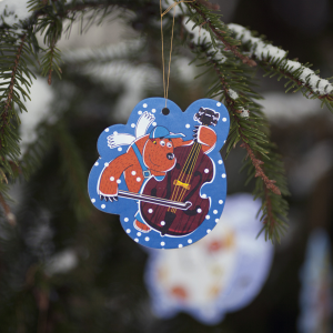 елочная игрушка из картона Медведь Тед из мультсериала Летающие звери