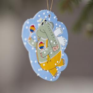 елочная игрушка из картона Слон Прабу из мультсериала Летающие звери
