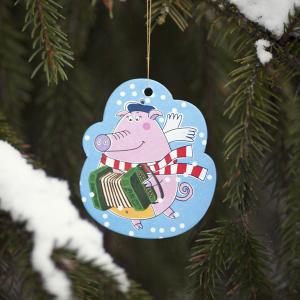 елочная игрушка из картона Свинка Софи из мультсериала Летающие звери