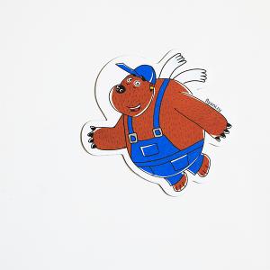 магнит виниловый Медведь Тед из мультсериала Летающие звери