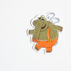 магнит виниловый Слон Прабу из мультсериала Летающие звери
