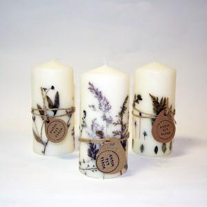 Свеча декорированная вручную малая